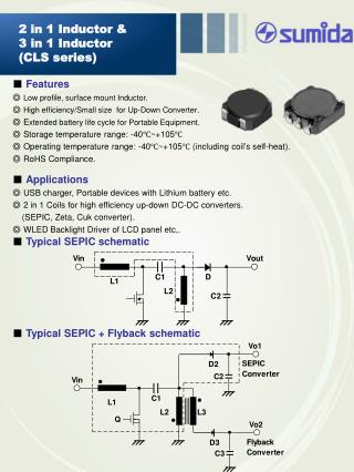 ■  Features ◎  Low profile, surface mount  Inductor .