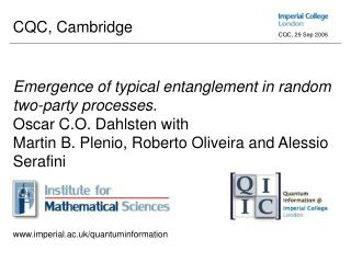 'Emergence of typical entanglement in random two-party processes'