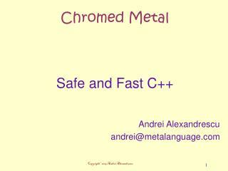 Chromed Metal