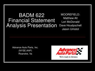 BADM 622 Financial Statement Analysis Presentation