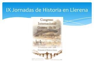 IX Jornadas de Historia en Llerena