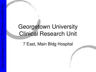 Georgetown University Clinical Research Unit