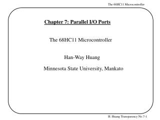 Chapter 7: Parallel I/O Ports