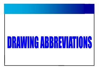 DRAWING ABBREVIATIONS