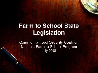 Farm to School State Legislation