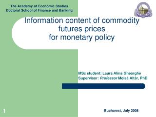 Information content of commodity futures prices for monetary policy