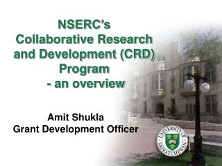NSERC's  Collaborative Research and Development (CRD) Program  - an overview