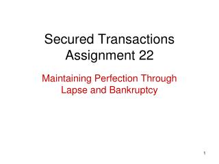Secured Transactions Assignment 22