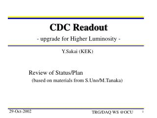 CDC Readout