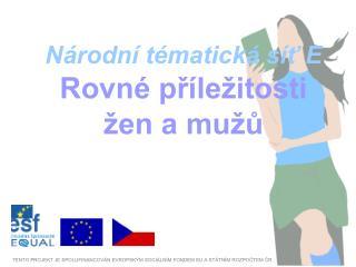 Národní tématická síť E Rovné příležitosti žen a mužů