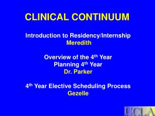 CLINICAL CONTINUUM