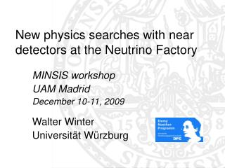 New physics searches with near detectors at the Neutrino Factory