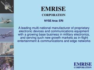 NYSE Arca: ERI