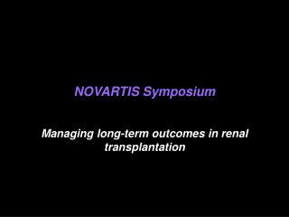 NOVARTIS Symposium