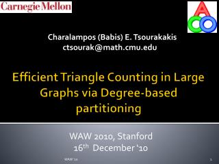Efficient Triangle Counting in Large Graphs via Degree-based partitioning