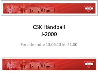 CSK Håndball J-2000
