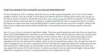 fishing trips alaska