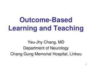 Outcome-Based Learning and Teaching