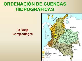 ORDENACIÓN DE CUENCAS HIDROGRÁFICAS