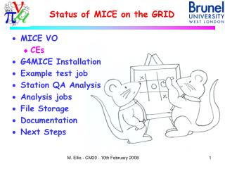 Status of MICE on the GRID