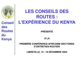 Conseil des Routes du Kenya
