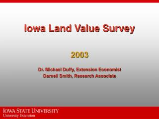 Iowa Land Value Survey