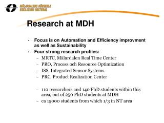 Research at MDH