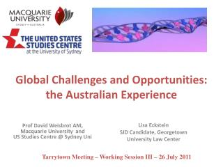 Global Challenges and Opportunities:  the Australian Experience