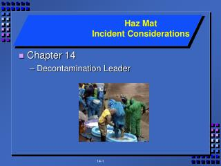Chapter 14 Decontamination Leader
