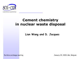 Cement chemistry  in nuclear waste disposal