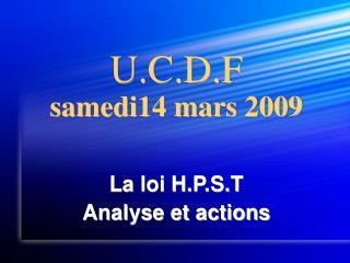 U.C.D.F samedi14 mars 2009