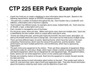 CTP 225 EER Park Example
