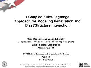 A  Coupled Euler-Lagrange  Approach for Modeling Penetration and Blast/Structure Interaction