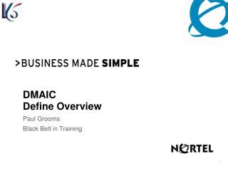DMAIC  Define Overview