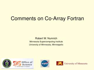 Comments on Co-Array Fortran