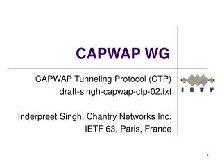 CAPWAP WG