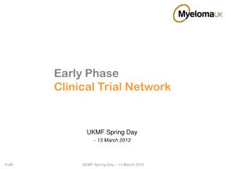 Early Phase Clinical Trial Network