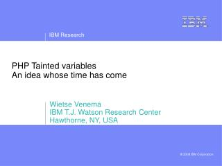 PHP Tainted variables An idea whose time has come