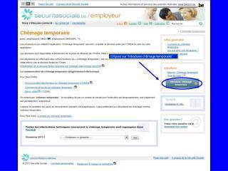 """Cliquez sur """"Introduire chômage temporaire"""" op"""