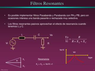 Filtros Resonantes