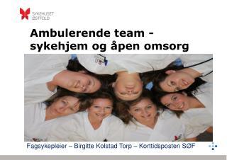 Ambulerende team - sykehjem og åpen omsorg