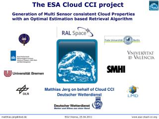 Matthias Jerg on behalf of Cloud CCI Deutscher Wetterdienst