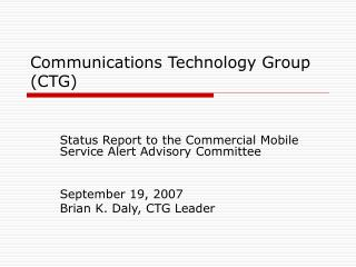 Communications Technology Group (CTG)