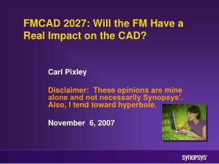 FMCAD 2027: Will the FM Have a Real Impact on the CAD?
