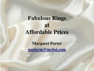 Fabulous Rings at Affordable Prices