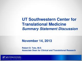 Center for Translational Medicine Mission Statement
