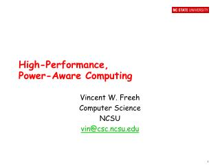 High-Performance,  Power-Aware Computing