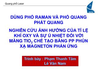 Quang phổ Laser