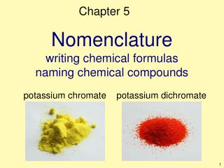 Nomenclature writing chemical formulas naming chemical compounds
