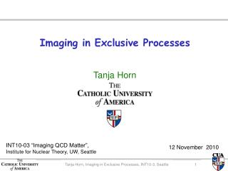 Imaging in Exclusive Processes
